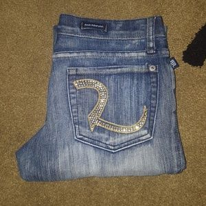 Rock and Republic Roth rhinestone jeans 28